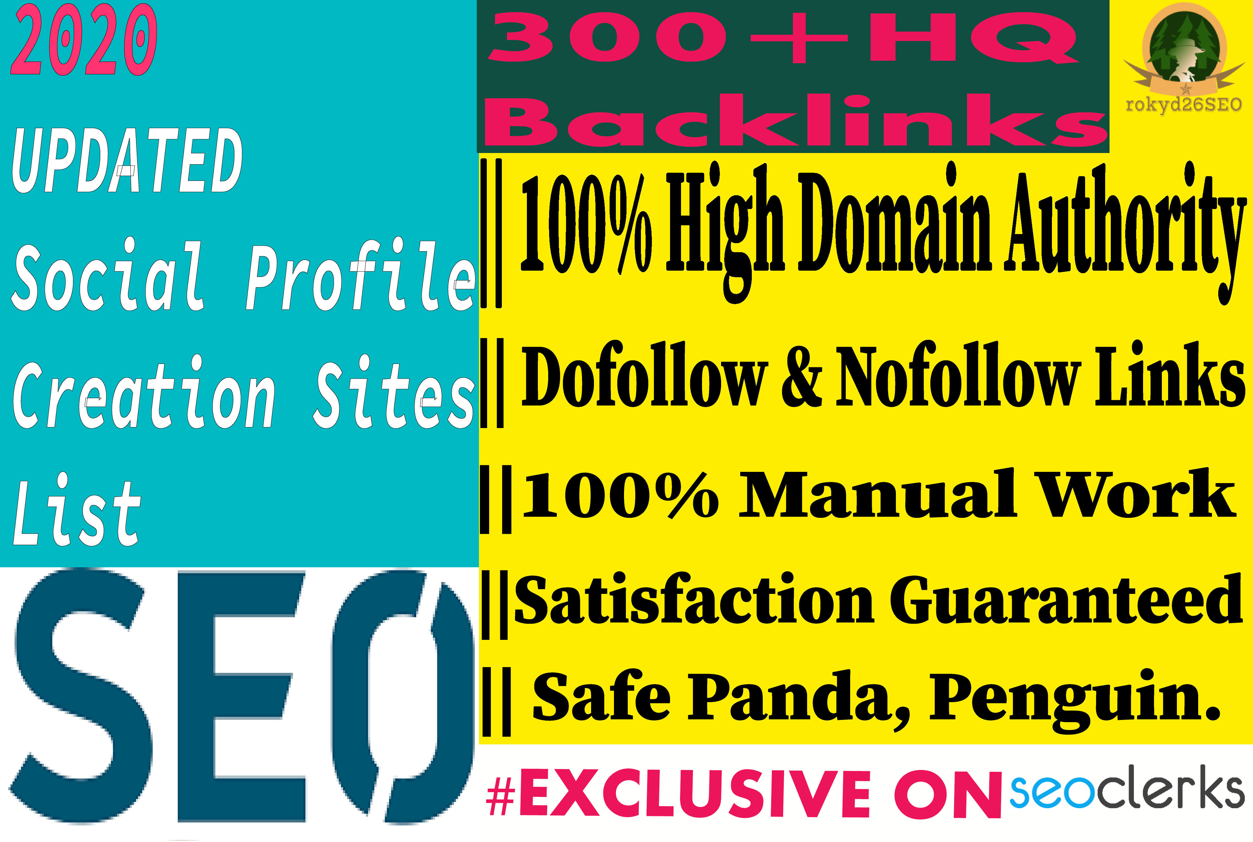 I will create 40 High Quality Social Profile Creation Backlinks in your website on proper sites