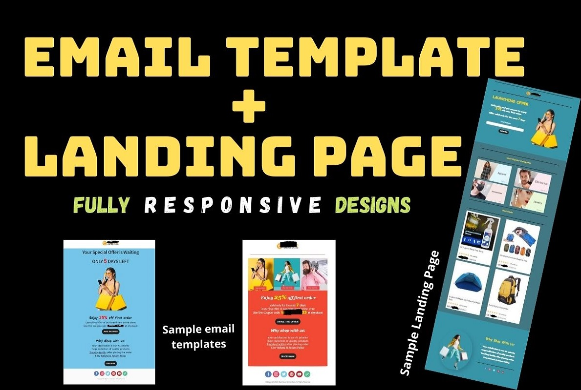 I will create and design Responsive Email Template or Landing Page for your business