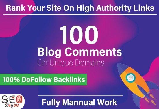 I Manually Make 100 Blog Comments live link Backlinks