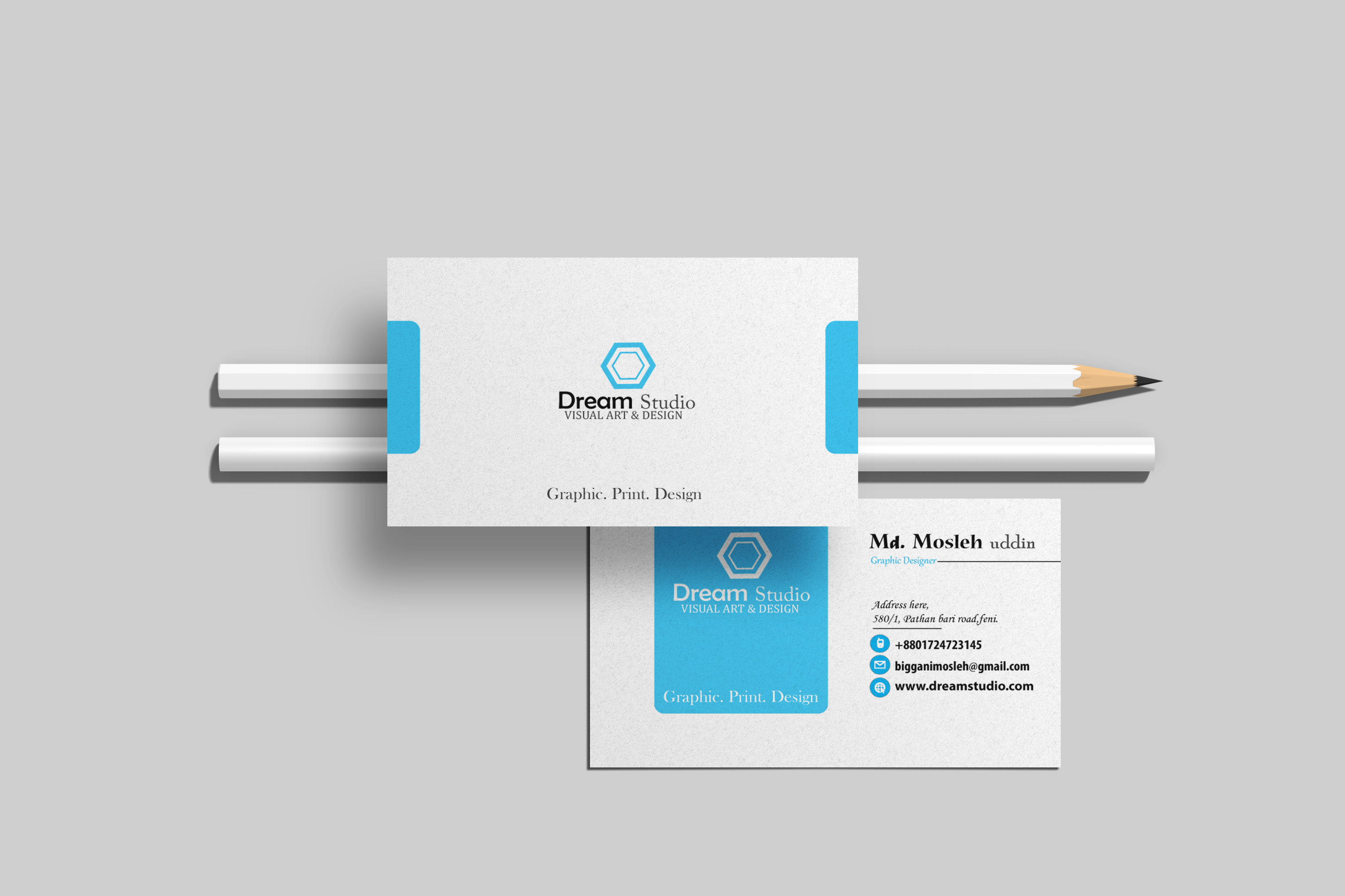 I will innovative visiting and business card design for you