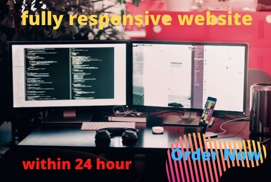 I will create fully HTML/CSS webpage within 24hr