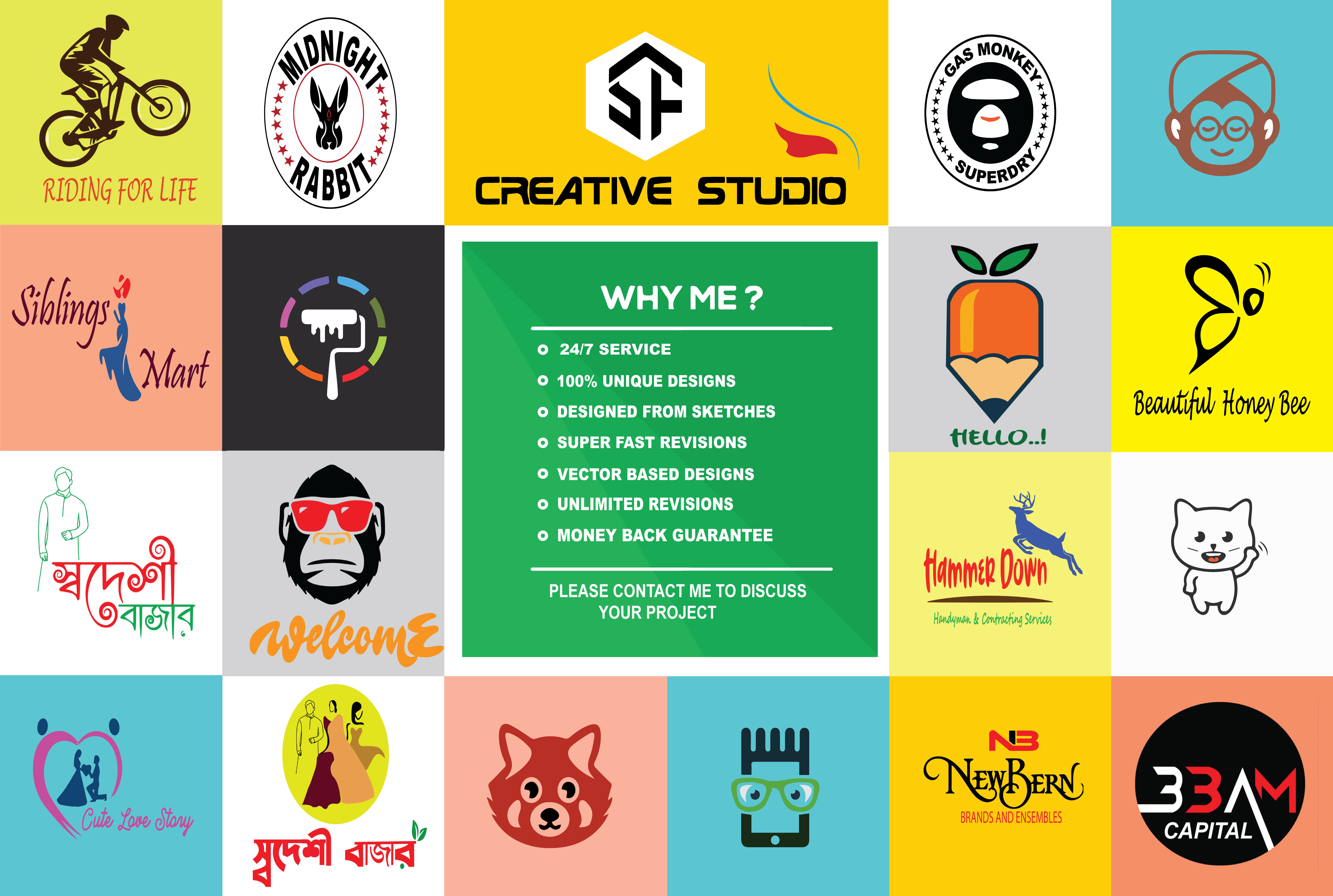I will design creative and simple logo for you