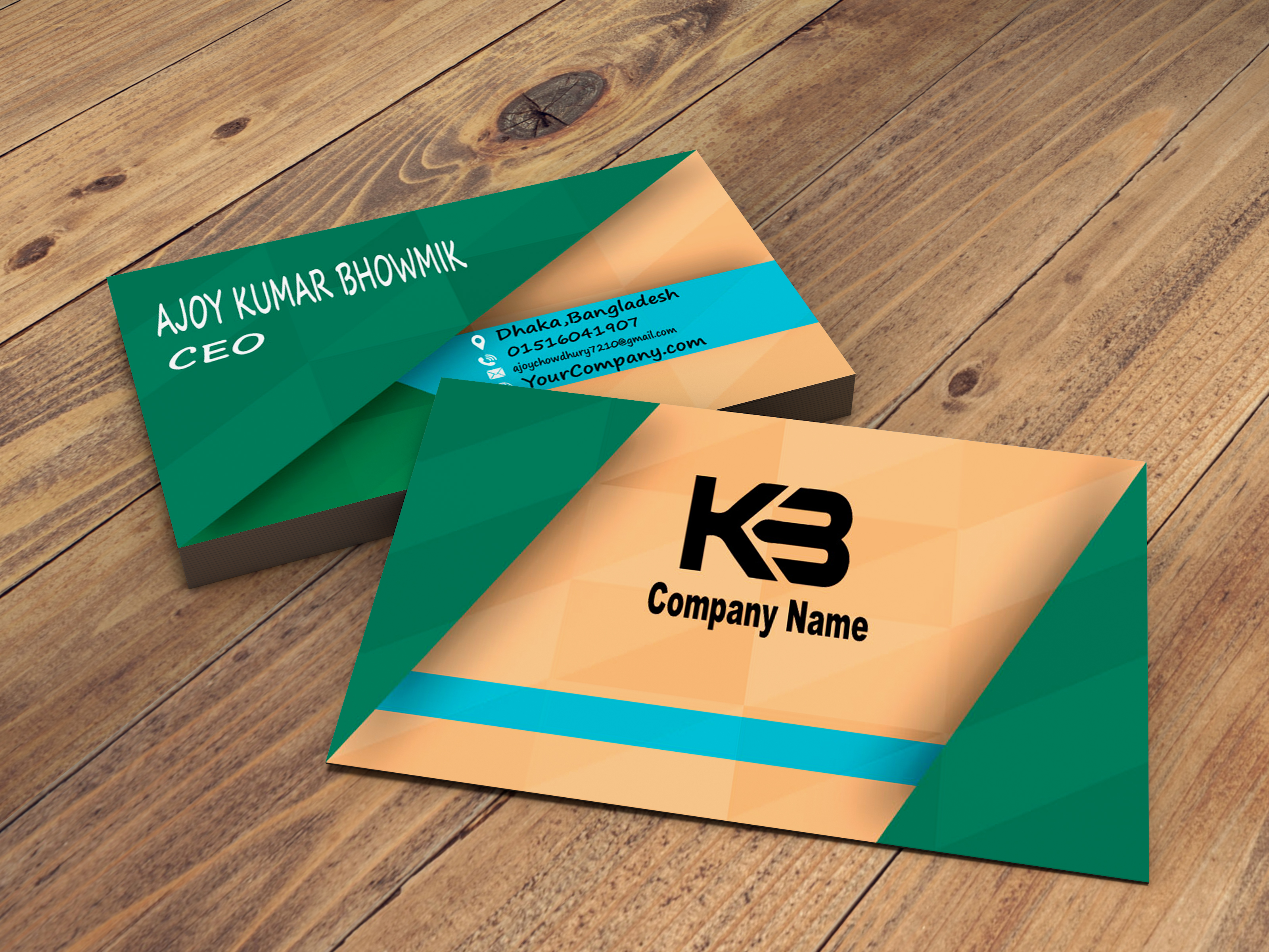 I will Design professional and creative business card design
