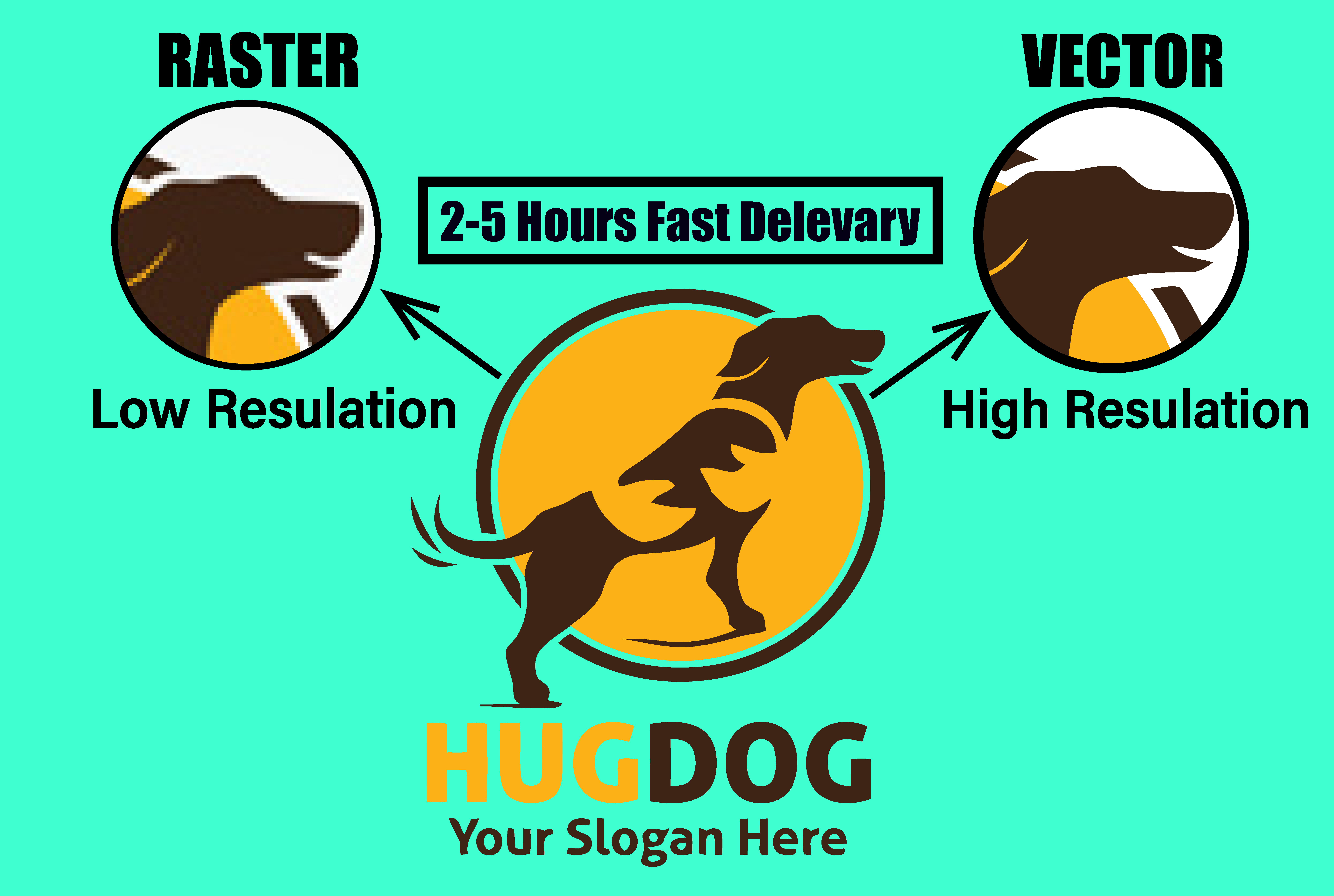 I will change your raster to vector logo