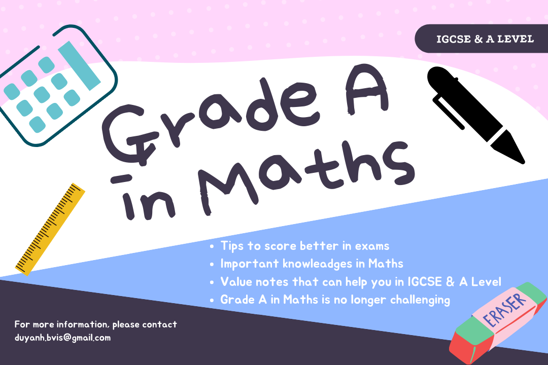Notes for Maths or business or Chemistry exams IGCSE / As Level