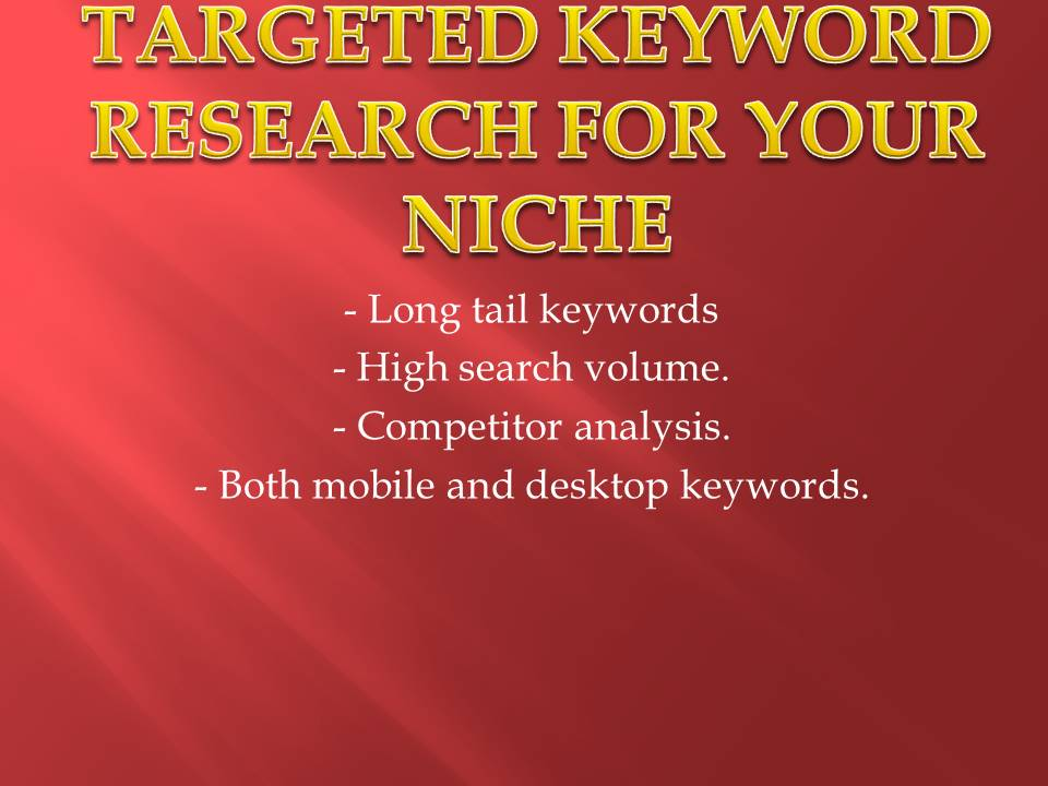I will research 10 best keywords for your target niche