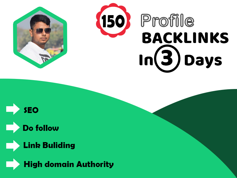 I will create 150 high authority dofollow profile backlinks for your website