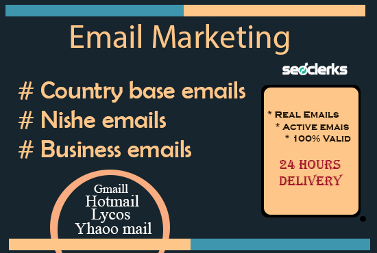 500 active email list for your email marketing to targeted audience.