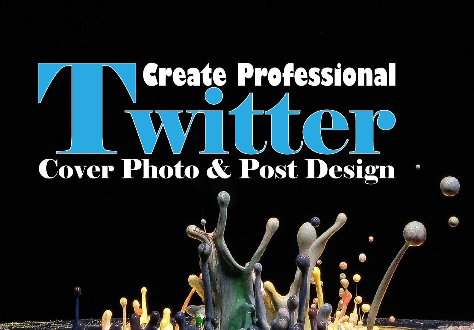 I will create professional Twitter Cover Photo and Post Design