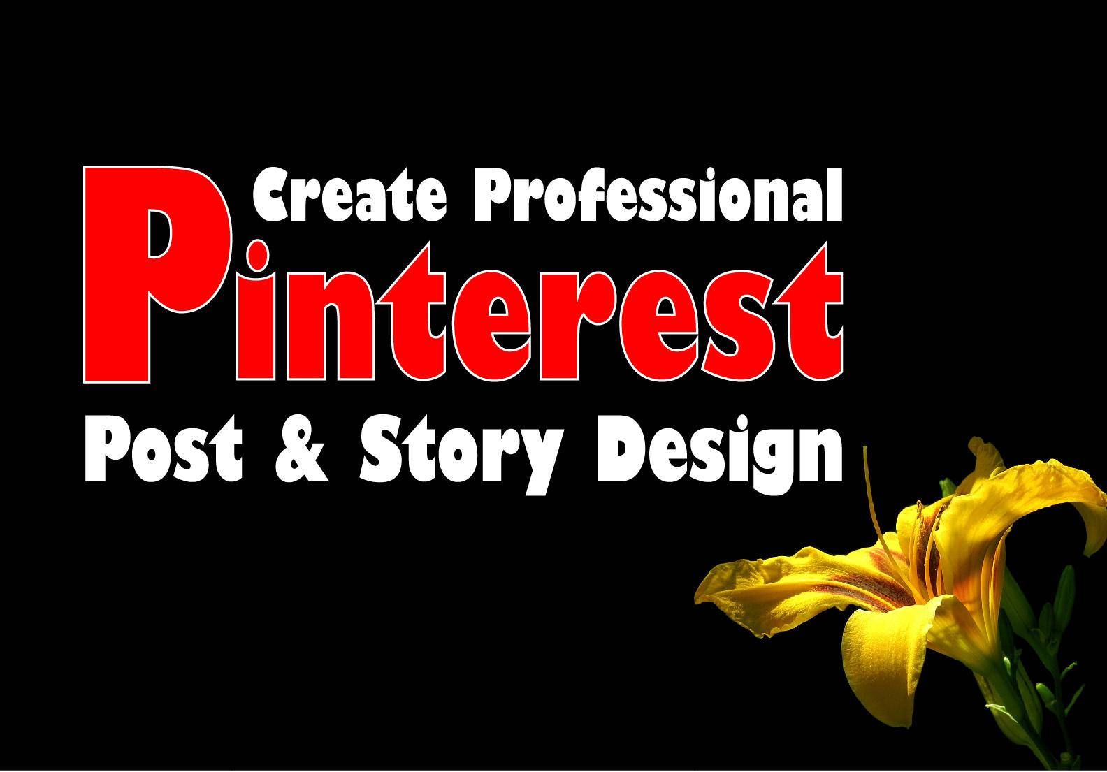 I will create professional Pinterest Post & Story Design