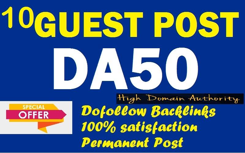 I will Provide you 10 DA 50+ PBN Backlinks