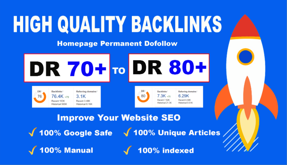 I will Provide you 10 High DR 50 to 70 PBN backlinks