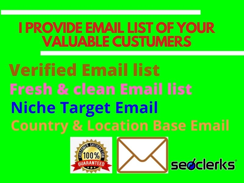 I will provide 1200 Niche targeting Email list