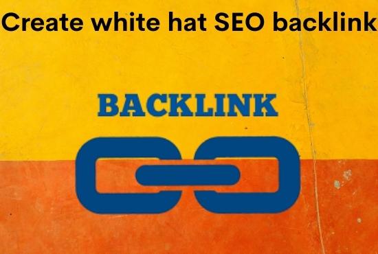 I'll create white hat seo backlink