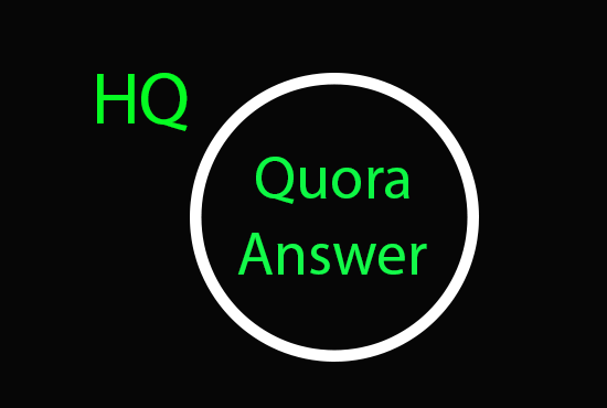 I will do 4 Quora answer for targeted traffic