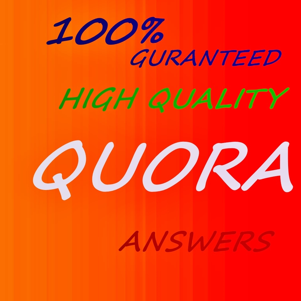 Great Offer: Get 30 Answers.100% Guaranteed Traffic on QUORA.