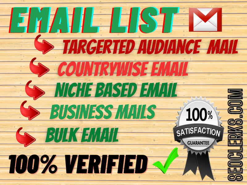 I will provide you niche targeted clean and verified 1000 emails as you need