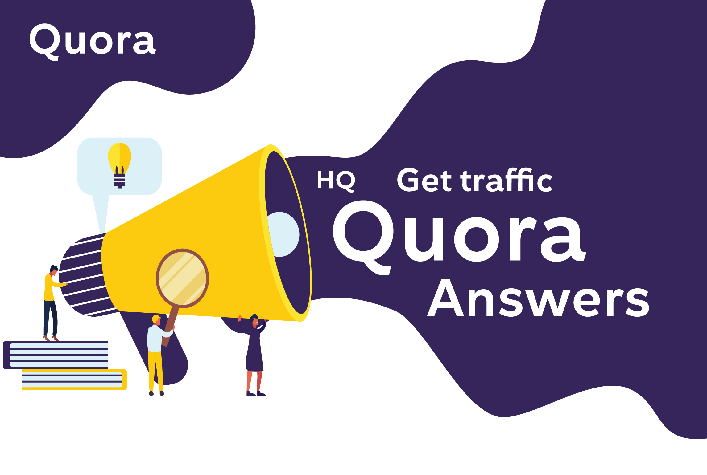 Guaranteed 10 high quality quora answer for your website traffic