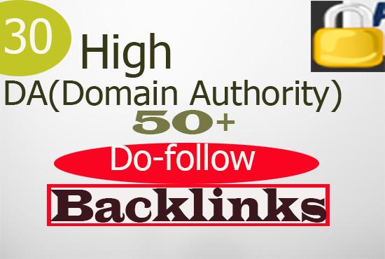 Do 30 Unique Low OBL Blog Comment Backlinks Do-follow On DA 50 to 100
