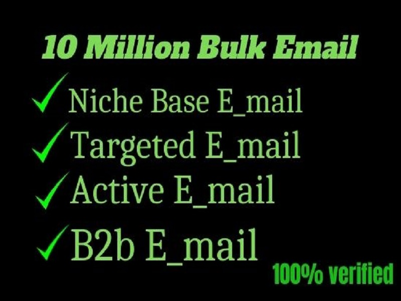 I will provide niche based bulk email list