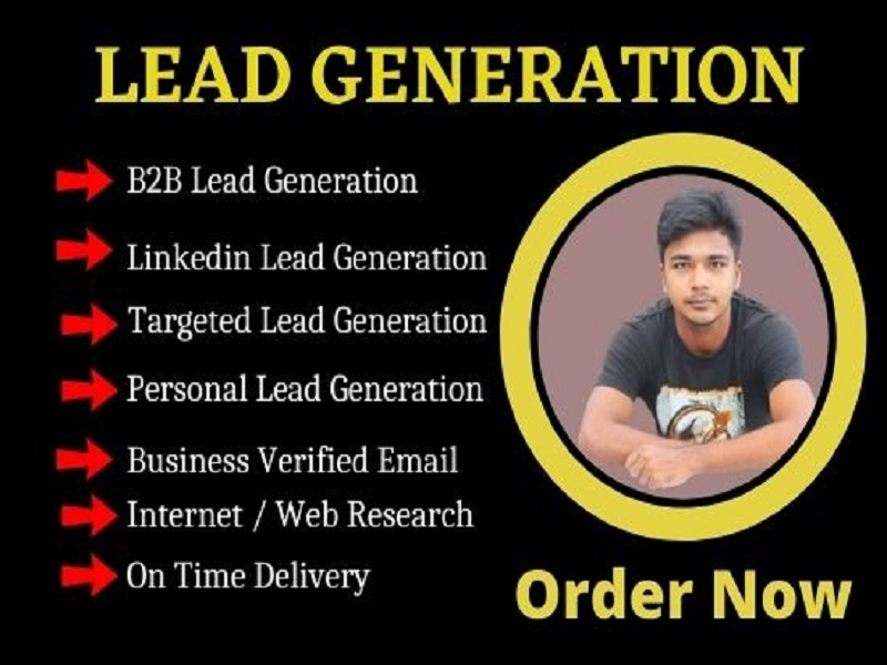 I will do targeted b2b LinkedIn lead generation and web research