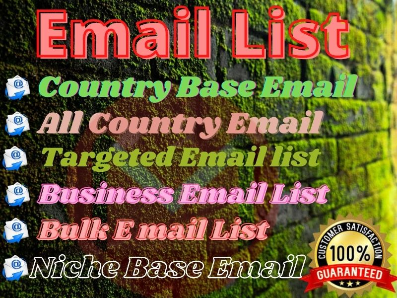 I will provide 1000 targeted email list