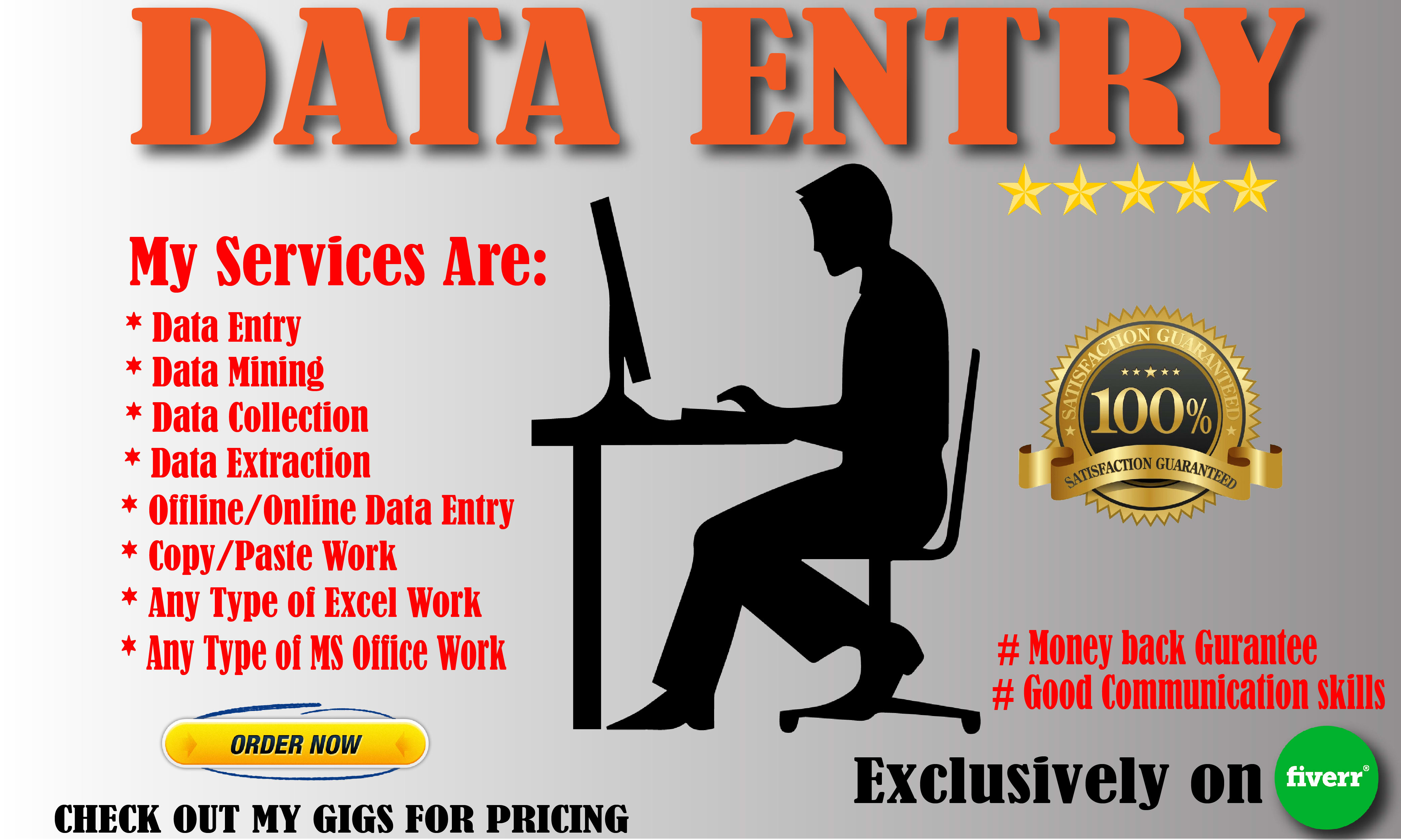 I will do any type of data entry in 2 hours
