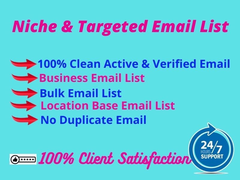 Collect 1k Active Niche And Targeted Email For Email Marketing