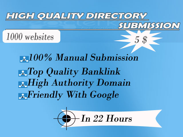 1000 Directory submission with in 22 hours