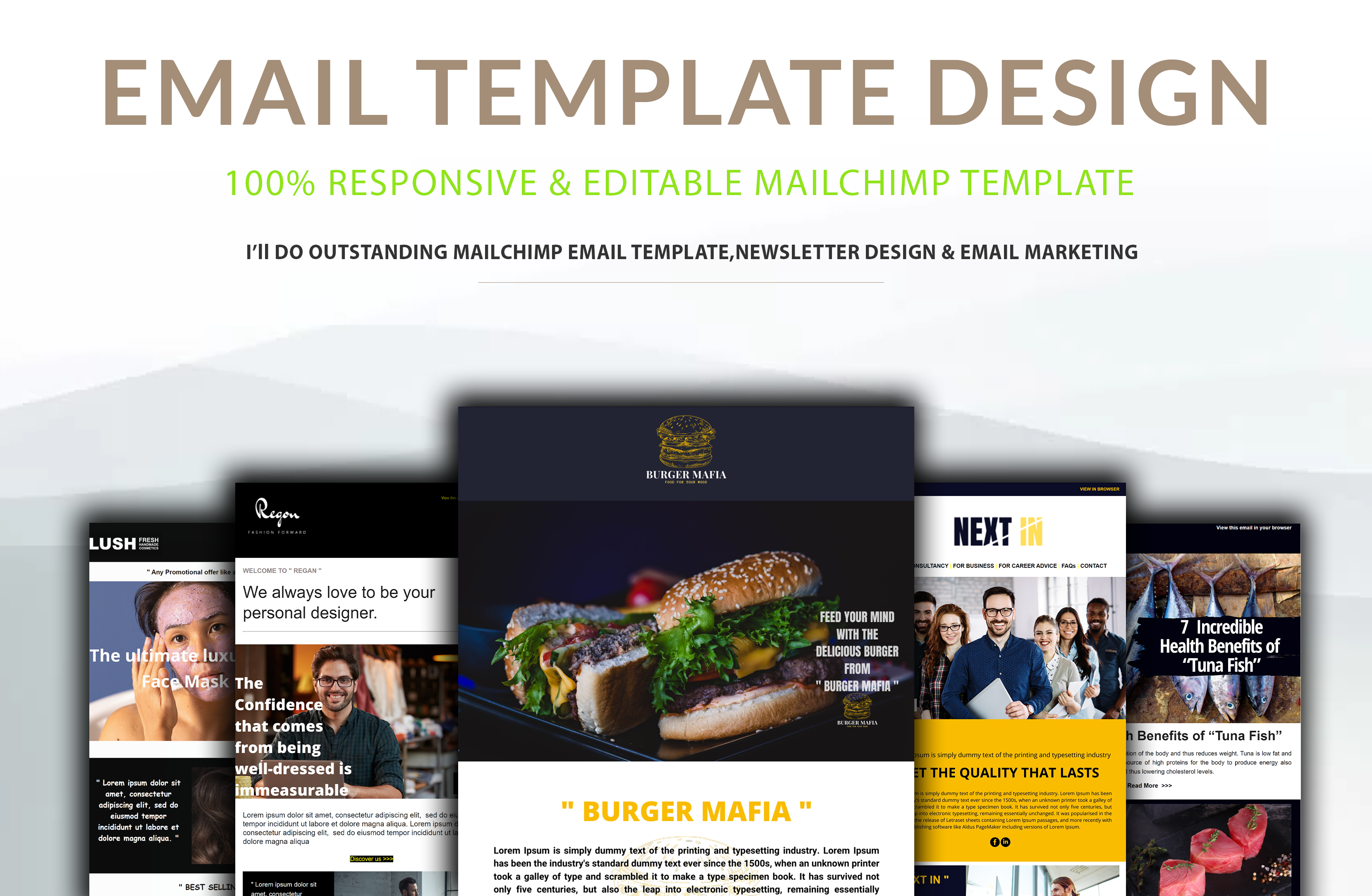 I will do mailchimp template design and newsletter automation