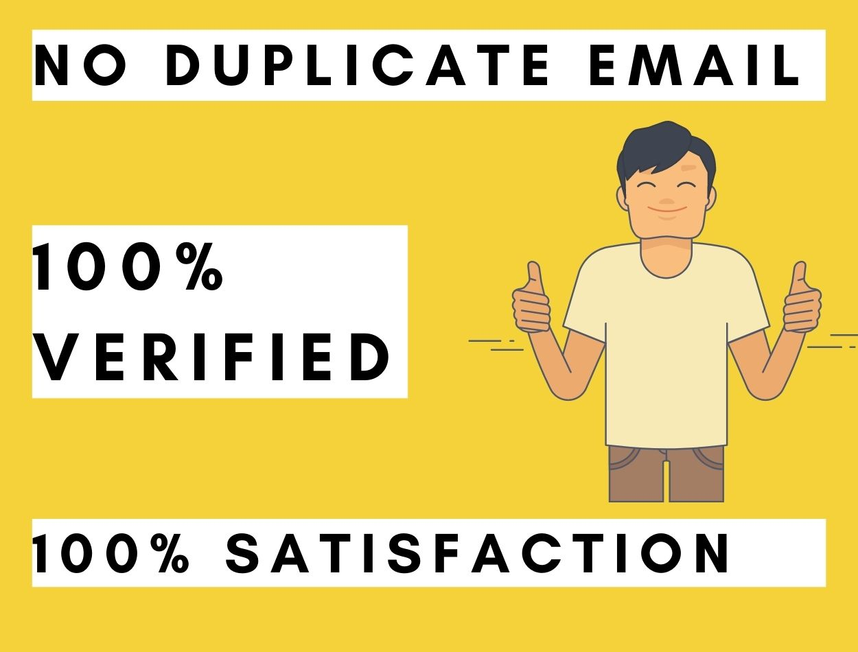 Provide 1000 Clean &Active Verified Email List For Email Marketing