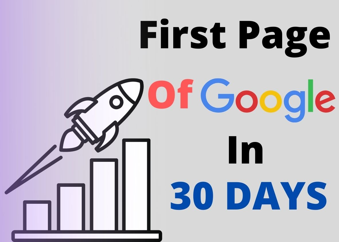 Rank Your Website On Google First Page Within 30 days
