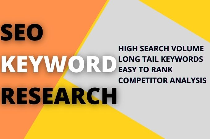 Keyword researh and competitor analysis on any niche