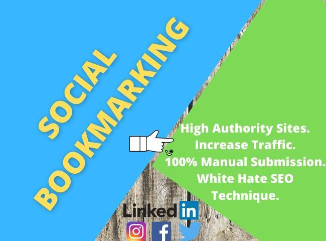 Provide manually 300 social bookmarking your website