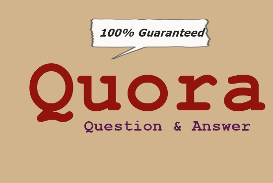 Promote your website niche related by 8 high quality Quora answer+upvote