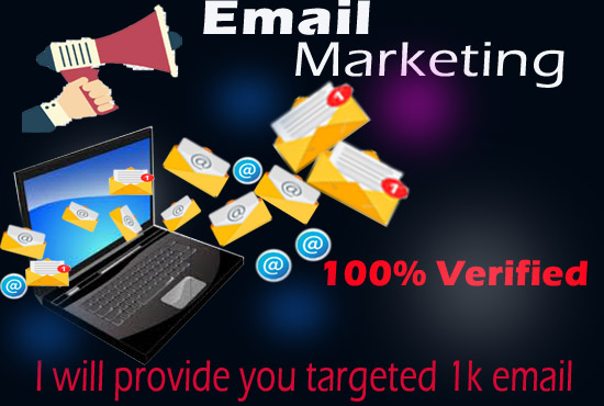 I am able to provide 1k real Email List for marketing your business