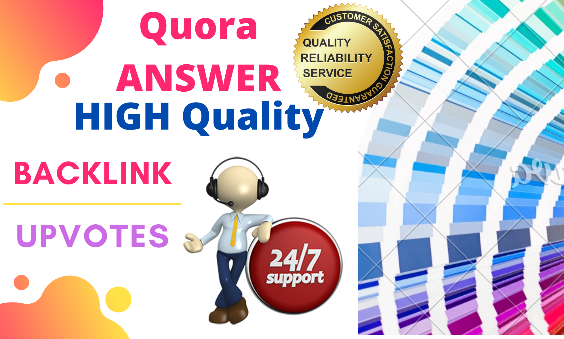 Promote your website by Keyword Related 5 HQ quora answer.