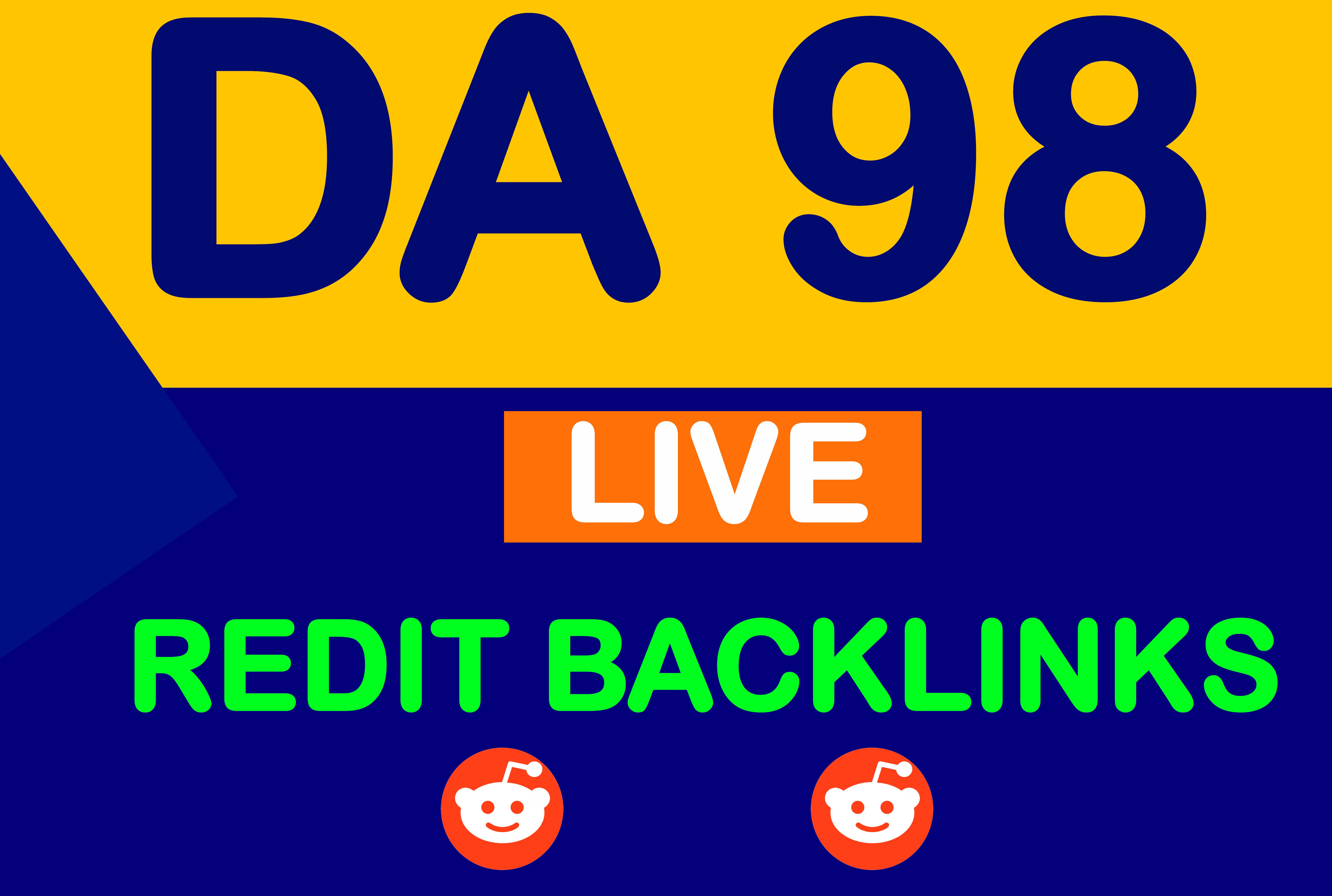 1 SUPERSTRONG DA 98 High Quality Backlinks From Reddit