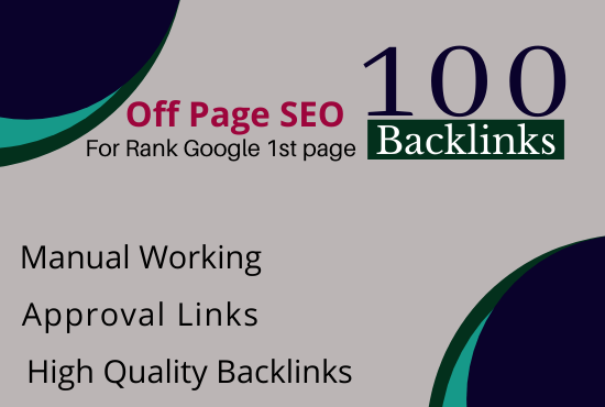 Off Page Seo Package Get 100 Quality Backlinks High DA
