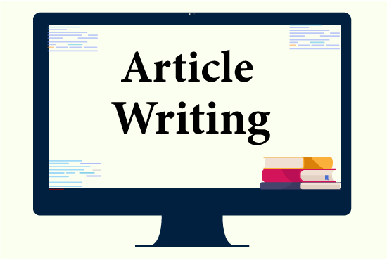 I will write an excellent article and blog posts on any topic