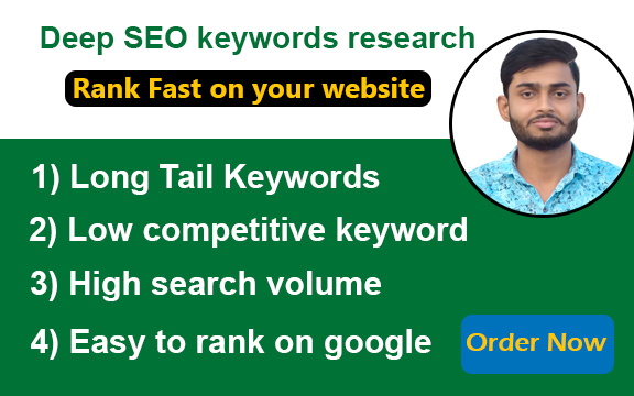 I will do deep Keyword Research For Your Niche & competitor analysis