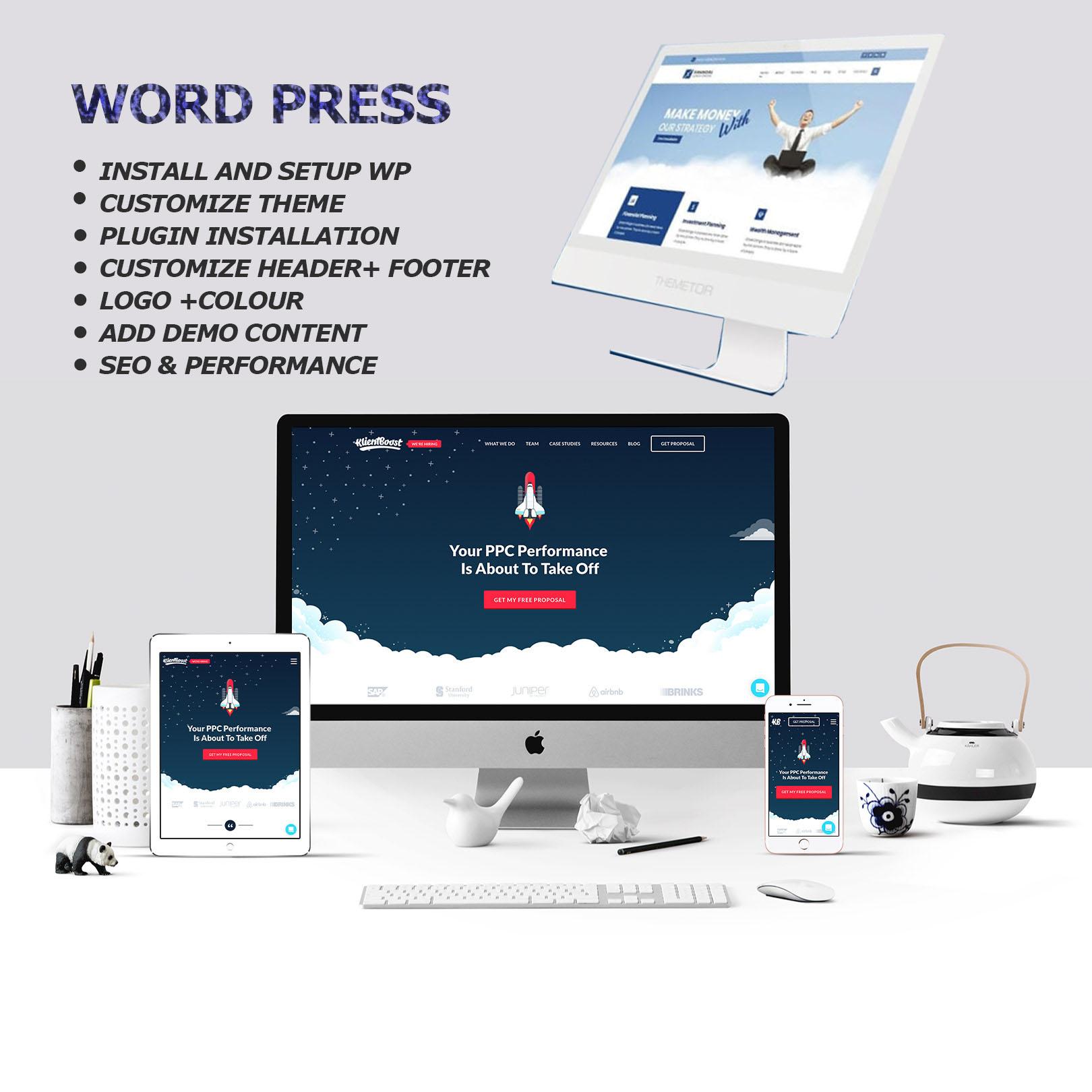 I will create responsive wordpress landing page design