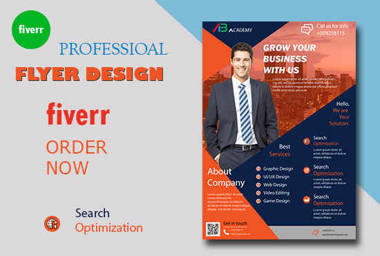 I will design flyer,  brochure,  booklet flyer design for your organization or business