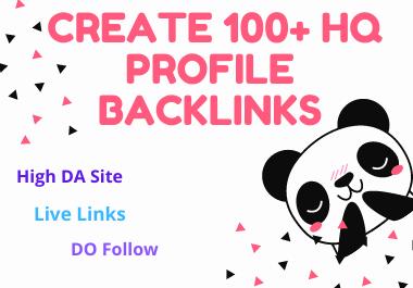 I will create 100+ HQ profile backlinks