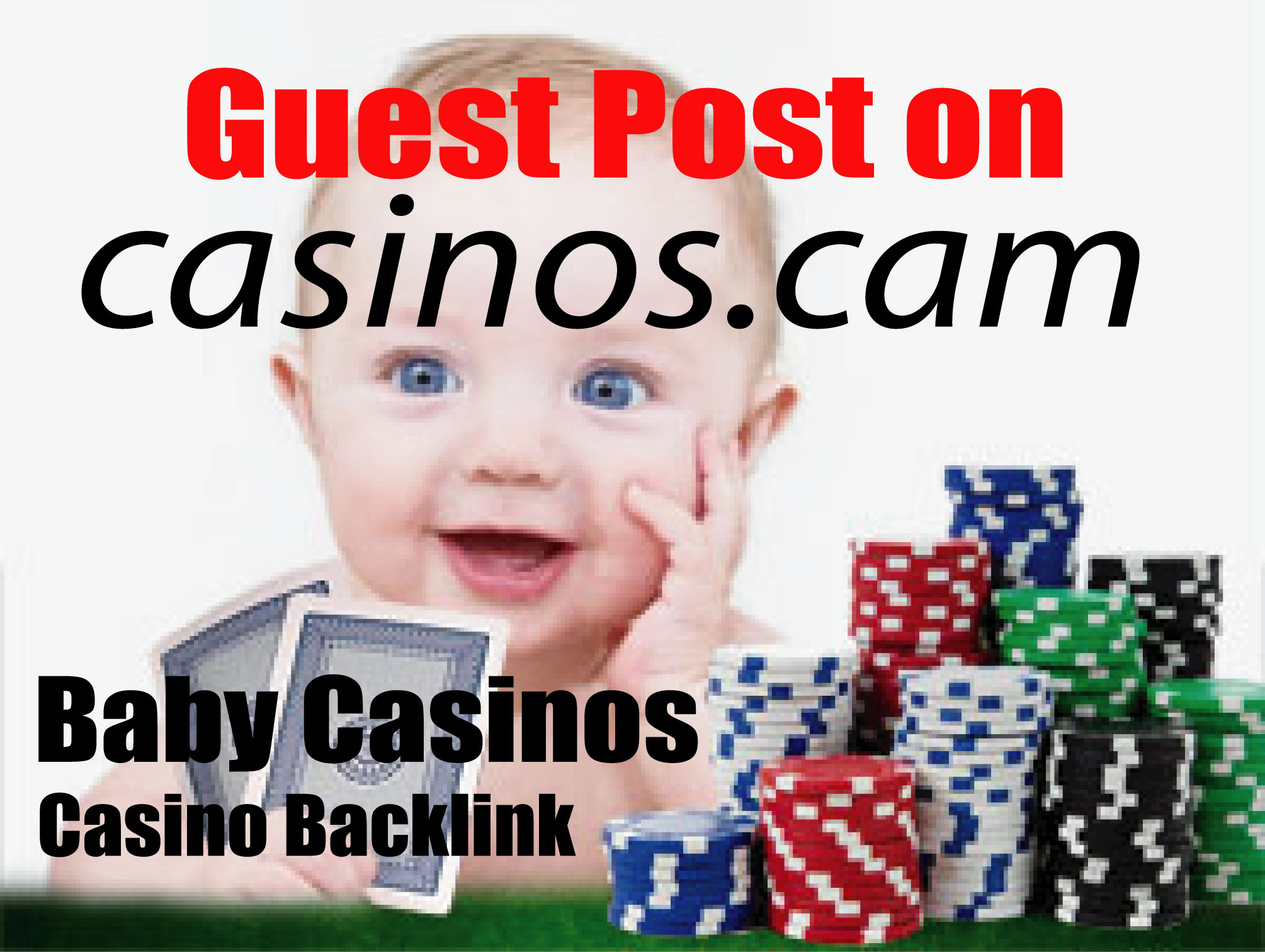 I Will Manually create Baby Casinos 100 Backlink Guest Post on Casinos. cam,  Gambling,  Online