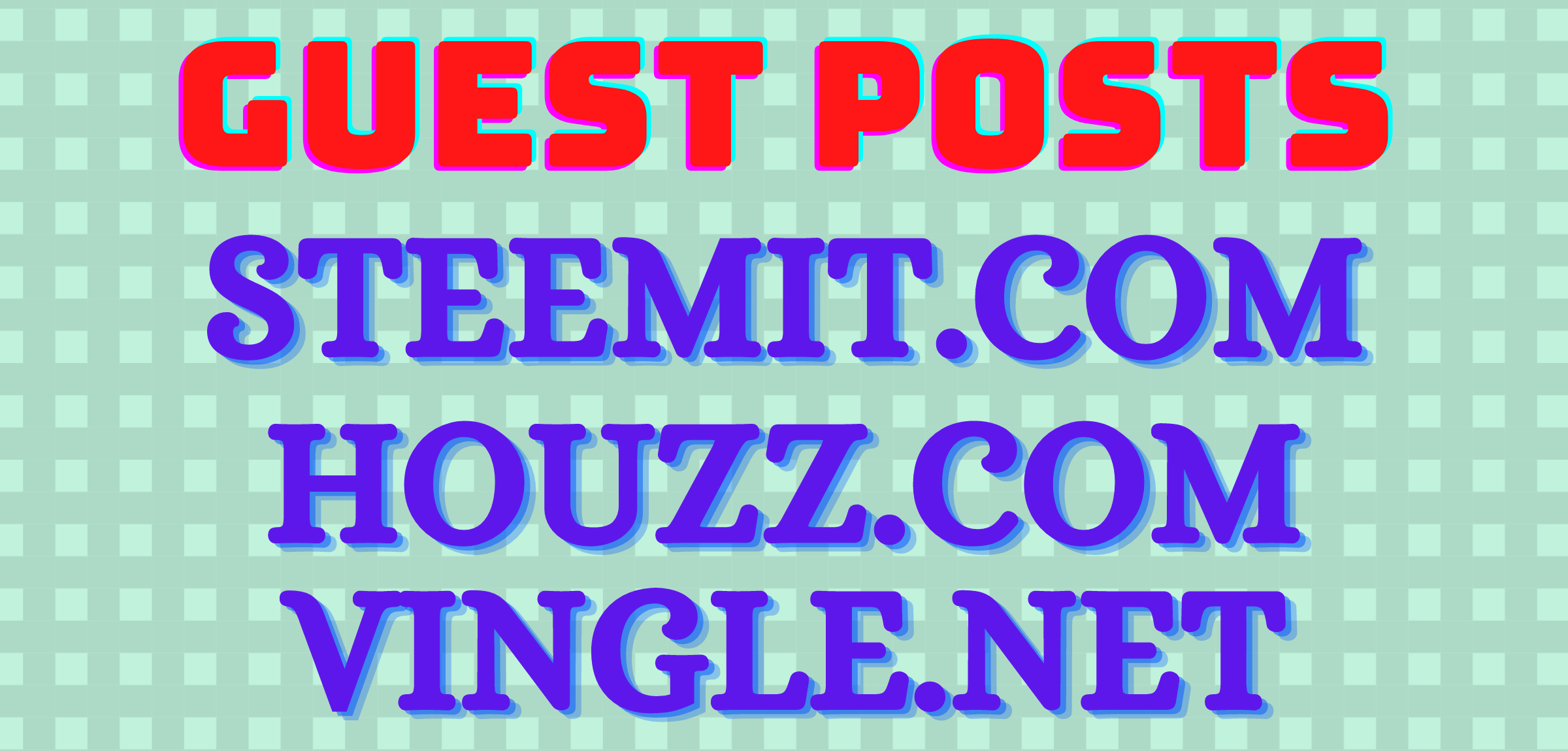 guest posts on steemit,  houzz,  vingle high authority site