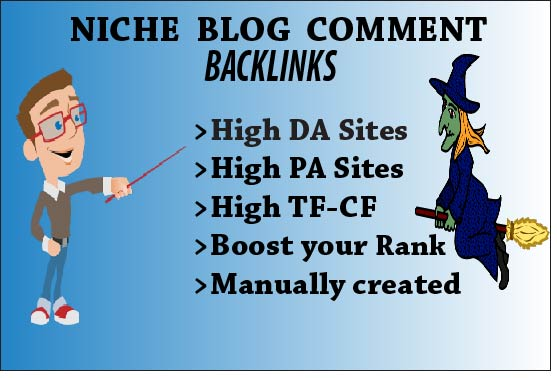 I will create manually 40 niche relevant blog comments backlink