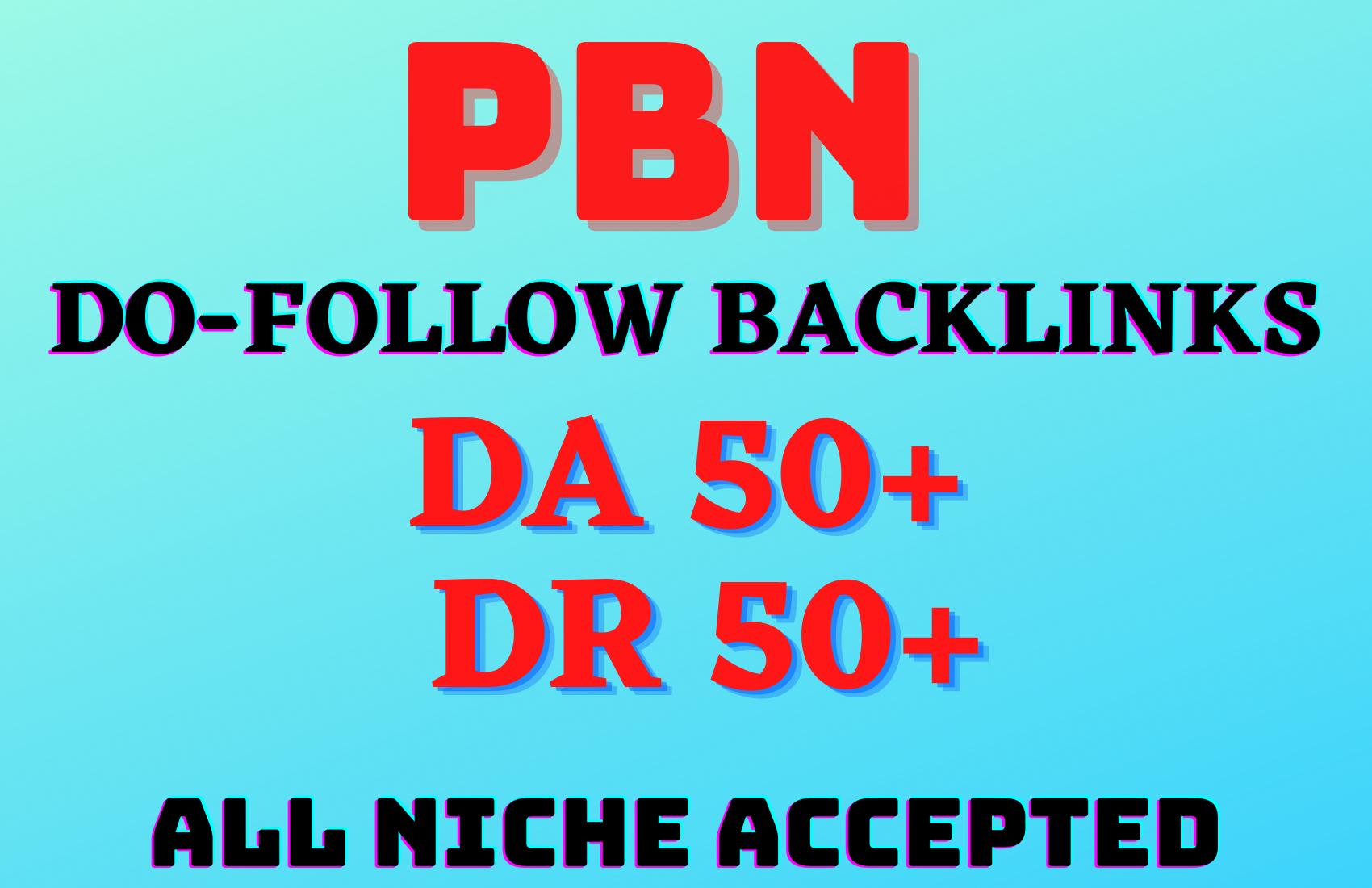 5 HQ homepage PBN backlinks from DA & DR 50+ websites