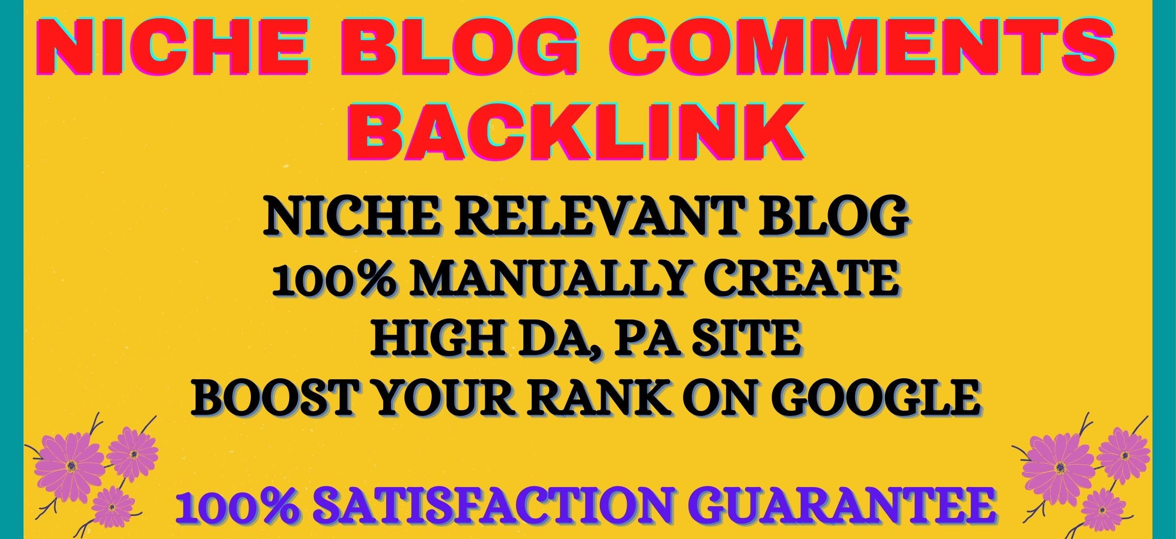 Create 40 niche relevant blog comments backlink on high da sites
