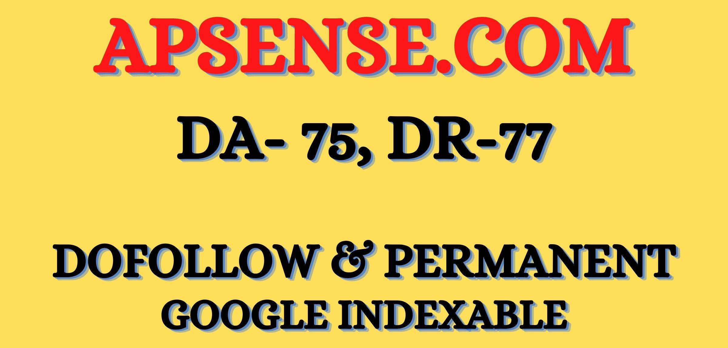 write & Publish DoFoIIow guest post backlink in Apsense. com DA-75